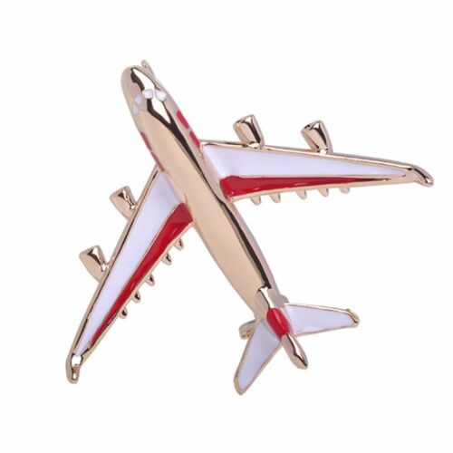 Cute Exquisite Alloy Enamel Aircraft Brooch Pins Jewelry Badge