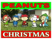 Christmas Snoopy Yard Winter Decorations With Peanuts