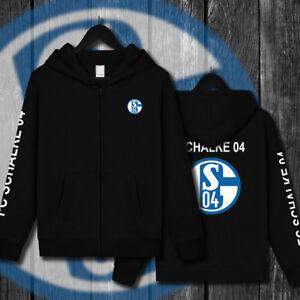 FC-Schalke-04-Fussball-Fan-Jacke-Schwarz-Bundesliga-Weihnachten-Geschenk