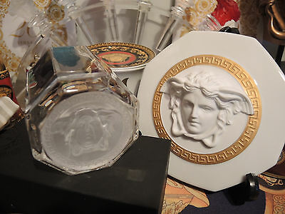 VERSACE MEDUSA WHISKEY SET OF 2 GLASSES VODKA SCOTCH BIRTHDAY GIFT NEW Sale