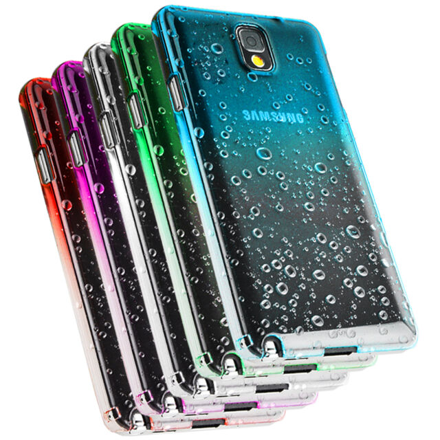 3D RAIN DROP DESIGN HARD CASE COVER For Samsung Galaxy NOTE 3 N9000 Free Film