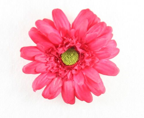 Shocking Pink Silk Gerbera Daisy Hair Clip Bow Headband Accessory