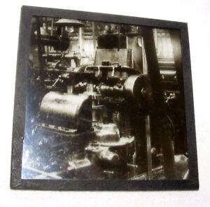 VINTAGE-MAGIC-LANTERN-SLIDE-LARGE-MACHINERY-STEAM-DRIVEN-MECHANICAL-STEAMPUNK