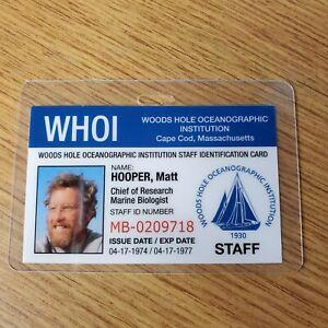 Jaws-ID-Badge-Chief-Of-Research-Matt-Hooper-costume-cosplay-prop