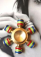 *US Seller* Pure Brass Fidget Hand Spinner Stress Relief Exercise Toy Gift