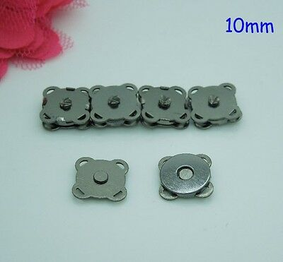 20sets10mm Metal Black Magnetic Snaps Bag Purse Sew On Magnetic Snaps Buttons