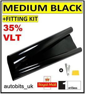 Voiture Fenêtre Tint Film teinter fumée noire 35/% 76 cm x 6 m