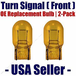 Front Turn Signal//Blinker Light Bulb 2pk Fits Listed Pontiac Vehicles 4157NAK