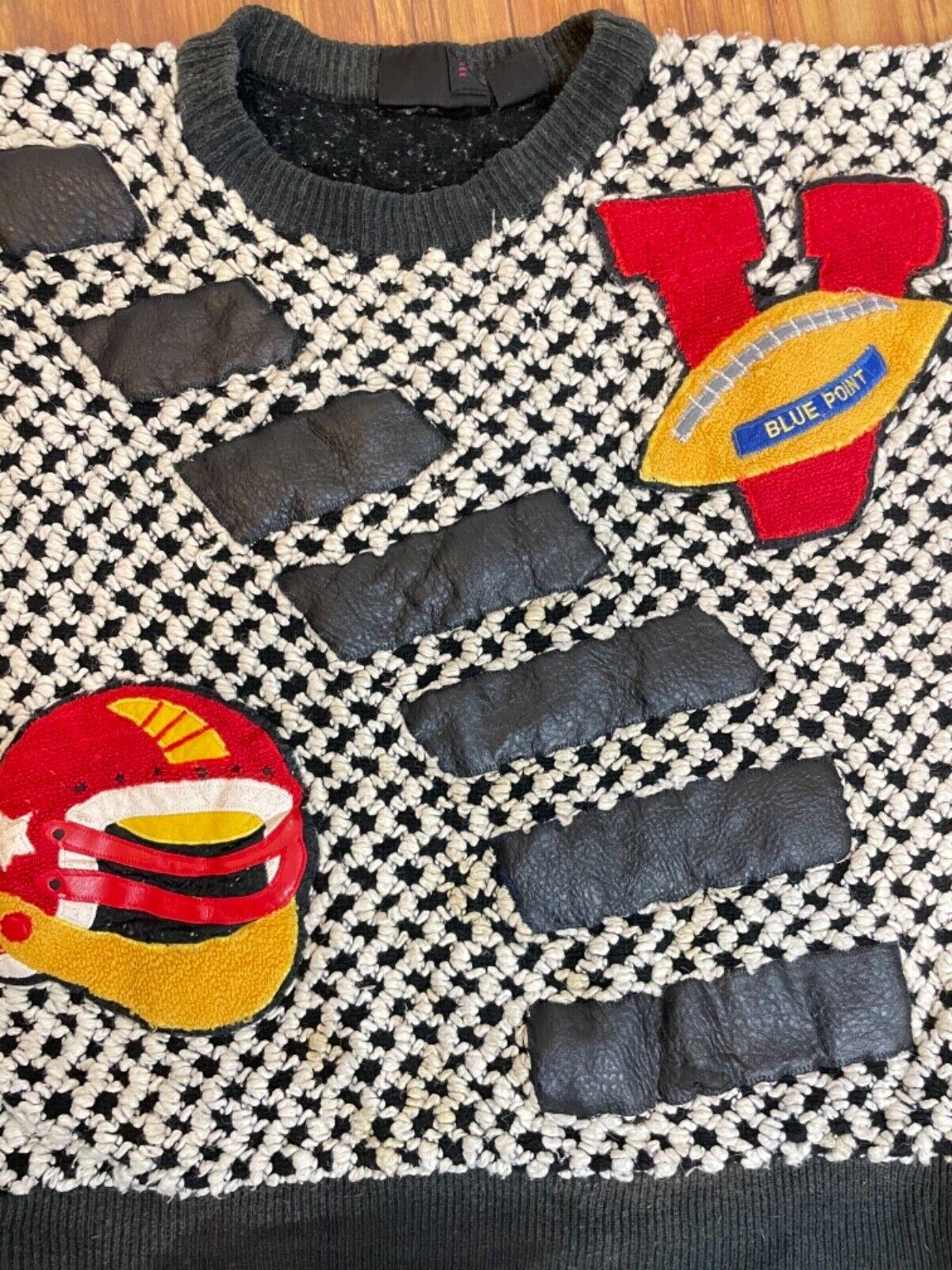 Vintage Varsity Football Sweater - image 4