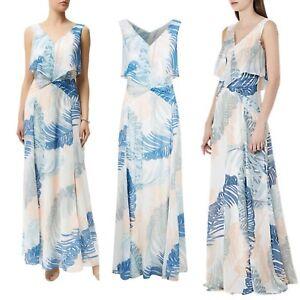 Reiss-Maxi-Dress-14-Filo-Printed-BNWT-Blogger-Tropical-Leaf-Pattern-Wedding