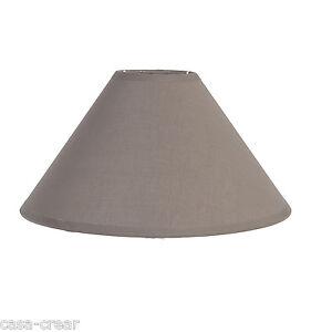 CLAYRE-amp-EEF-Lampenschirm-Braun-Nostalgie-Landhaus-Shabby-Chic-27cm-E27