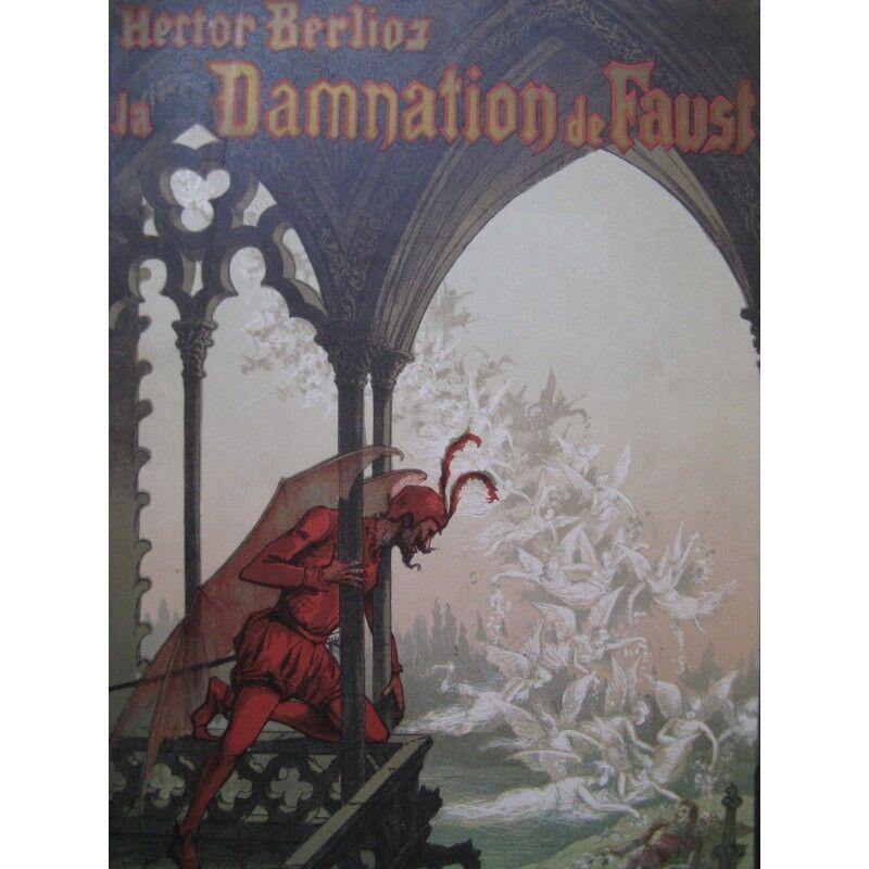 BERLIOZ Hector La Damnation de Faust Opéra Chant Piano Partitur sheet music sco