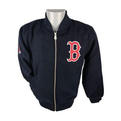 Boston Red Sox Mlb Melton Bomber Jacket GroßE Sorten Sport