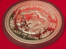 2000 AUSTRALIA 1 KILO SILVER LUNAR YEAR OF THE DRAGON PROOF COIN - SERIES 1 RARE