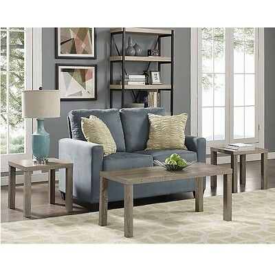 Coffee Tables And End Tables Sets 3 Piece Driftwood Rustic Vintage Furniture New