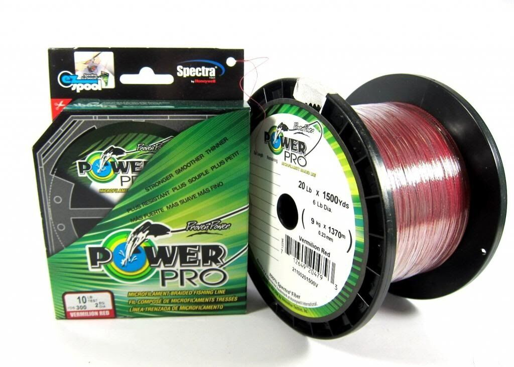 Power Pro Braided Spectra Line 40lb by 1500yds rouge (4915)