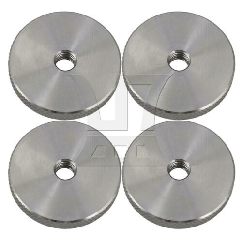 4pcs M6x30x5 304 Stainless Steel Flat Knurled Thumb Round Nut Thin Type