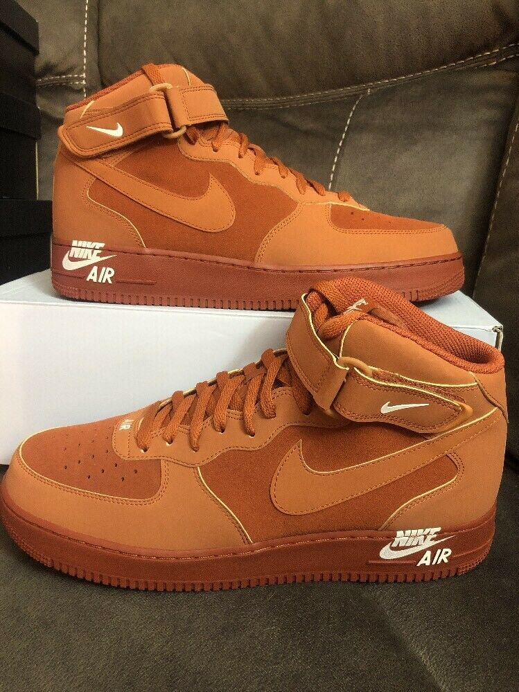 NIKE AIR FORCE 1 MID 07 DARK RUSSET SIZE 13 [315123-207]