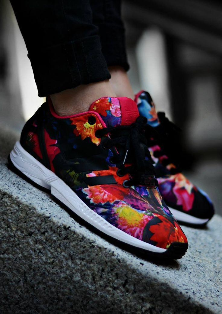 ADIDAS ZX FLUX FLORAL WOMENS US UK 3 4 4.5 5 5.5 6 6.5 7 7.5 8 8.5 9 PINK BLACK