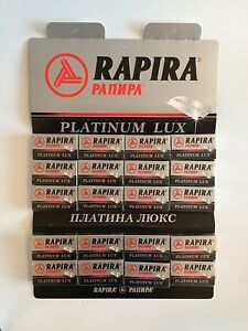 100-NEW-Platinum-Lux-Rapira-double-edge-safety-razor-blades