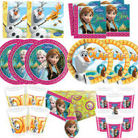 Disney Frozen Princess Birthday Party Tableware Plates Cups Tablecover Napkins!!