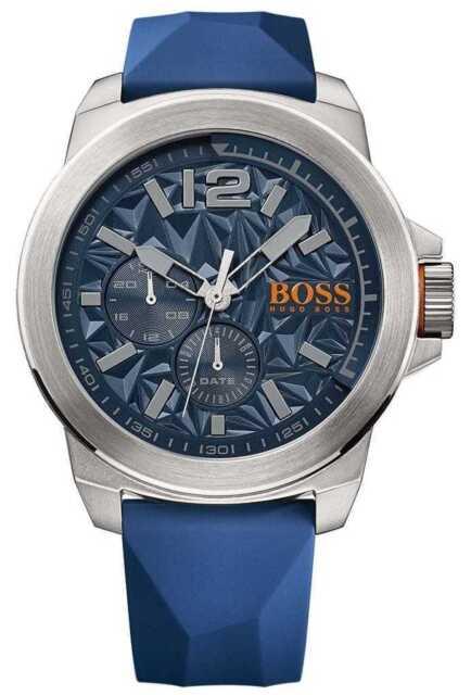 bff93345339 Hugo Boss Orange Mens Cadran Bleu Bracelet En 1513348 Montre