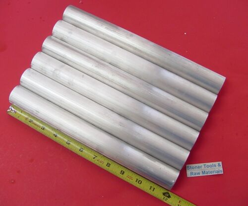 "6 Pieces 1-1//8/"" ALUMINUM 6061 ROUND ROD 12/"" long Solid T6511 Extruded BAR STOCK"