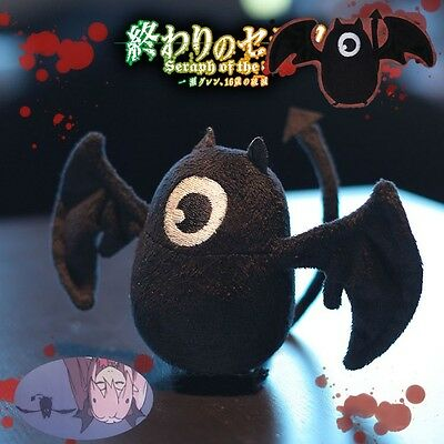 Anime Seraph of the end Krul Tepes Black Bat Plush Doll Cosplay Prop Lovely Toy