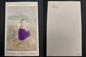 Richard-Maenedorf-jeune-femme-de-Schaffhouse-Vintage-carte-de-visite-CDV