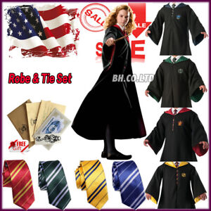 US-Harry-Potter-Costume-Hogwarts-Adult-Child-Cosplay-Robe-Halloween-Party-Prom