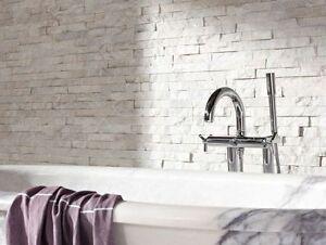 Splitface Blanc Quartz Mosaïque (échantillon) Revêtement Pour Caractéristique Murs-afficher Le Titre D'origine