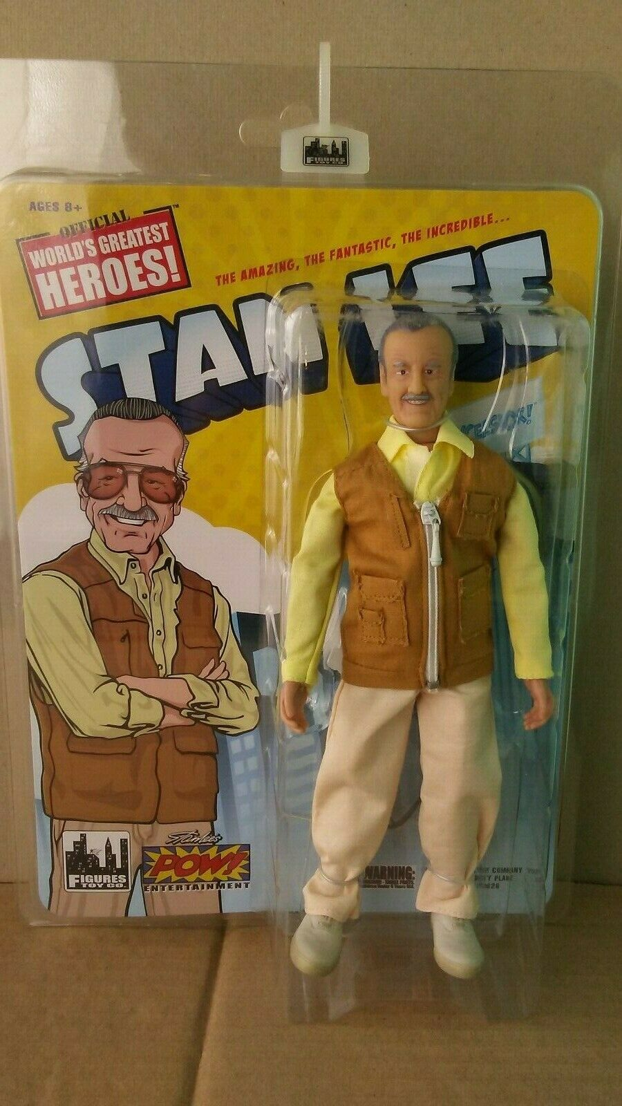 FIGURE TOYS OFFICIAL WORLD'S GREATEST HEROES RETRO STAN LEE ACTION FIGURE
