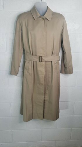 Vintage Burberry Trench Coat Beige Concealed Butto