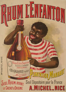 Details about Original Vintage Poster - Rhum from Martinique - Caribbean -  1900