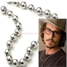 """1.5 mm 10/""""-100/"""" Silver Stainless Steel Ball /& Oval Bead Necklace Chain Sb73"""