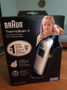 Braun ThermoScan 5 Infrarot Ohrthermometer IRT6020 NEU