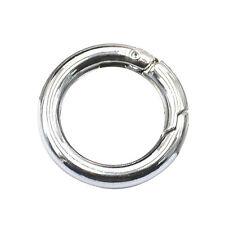 1pc Silber Rundkarabiner Sicherheitsring Aluminiumlegierung Schlüsselanhänger