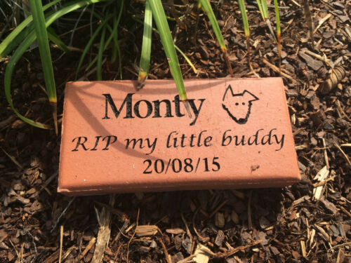 Pet Memorial Plaque Clay Paver Personalised Made to order