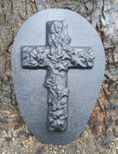Mold plaster concrete abs plastic ivy cross mold garden casting mould