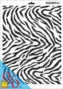 Schablone-Stencil-A3-145-0747-Tigerfell-Neu-Heike-Schaefer-Design