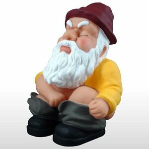 Image Is Loading Squatting Garden Gnome Statue Funny Art Sculpture Outdoor