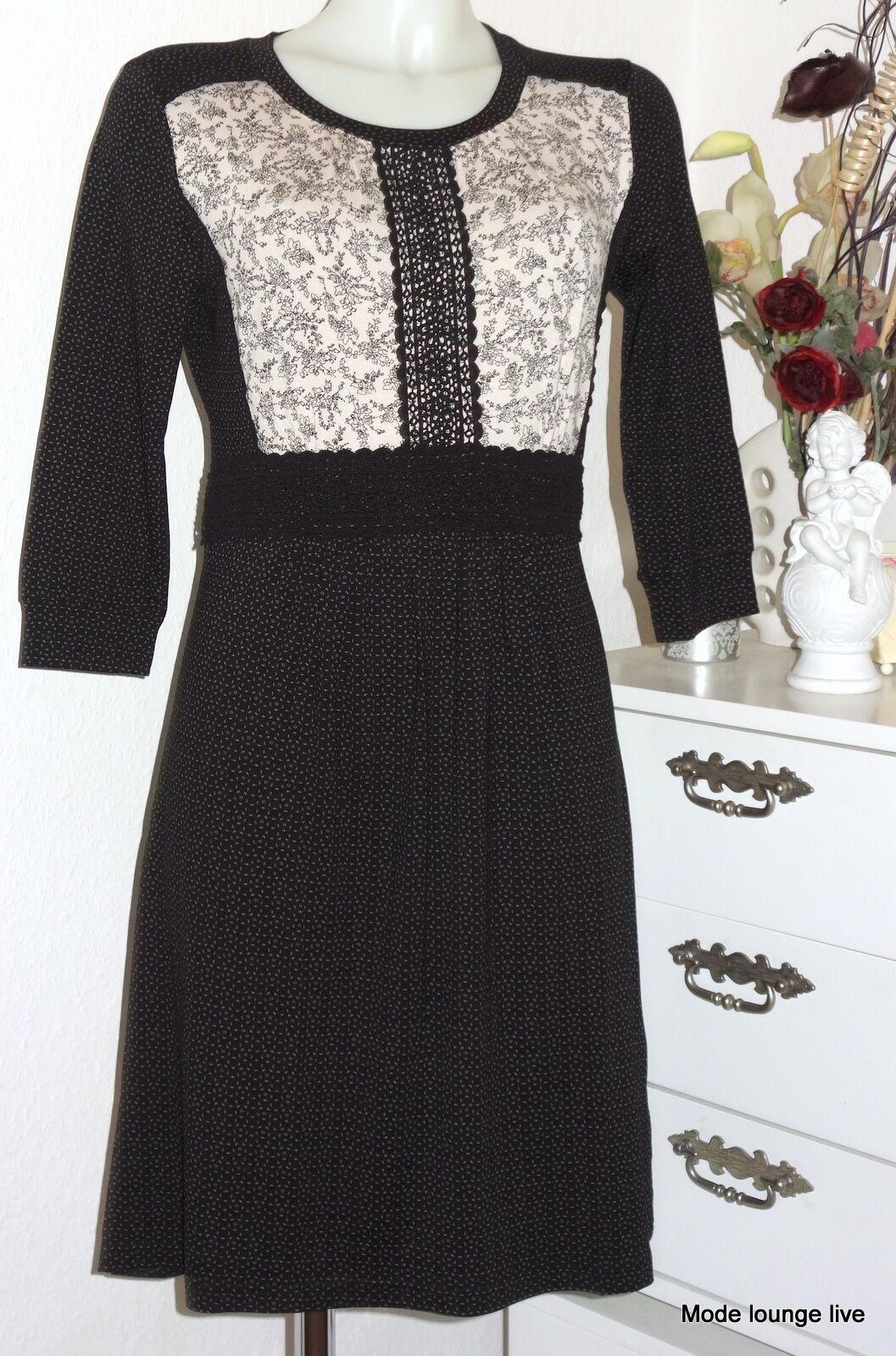 Vive Maria ROBE black FLEURS white MELLOW JOUR Robe 31713