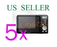 5x Lcd Screen Protector Guard Sony Cybershot Dsc-w570