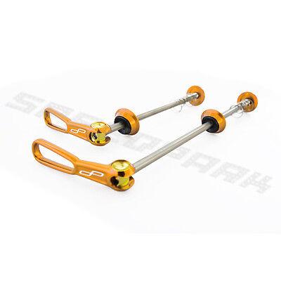 SpeedPark Ultralight Titanium Alloy MTB Bike Bicycle Quick Release Skewer Gold