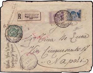 EGEO-RODI-1917-5-25-50c-n-2-5-7-RACCOMANDATA-TRICOLORE-RODI-X-NAPOLI