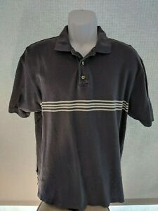 Gap-Pique-Polo-Shirt-Men-Size-Medium-Blue-Striped-Short-Sleeve-Shirt