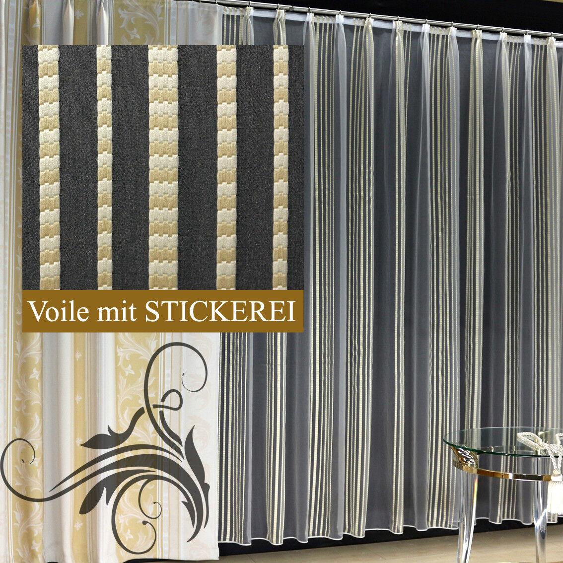 De haute avec qualité fini rideau voile store avec haute motif faltenband & bleiband PRADA 779092