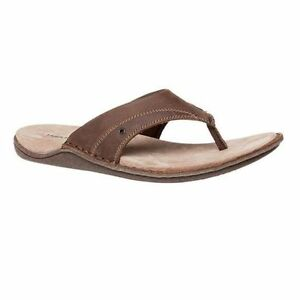 afa3881e2 Image is loading MENS-HUSH-PUPPIES-WRANGLER-BROWN-LEATHER-SANDALS-SLIDES-
