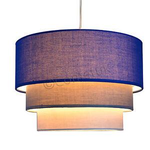 Image is loading Modern-3-Tier-Fabric-Ceiling-Pendant-Light-Shades-  sc 1 st  eBay & Modern 3 Tier Fabric Ceiling Pendant Light Shades Easy Fit Lamp ...