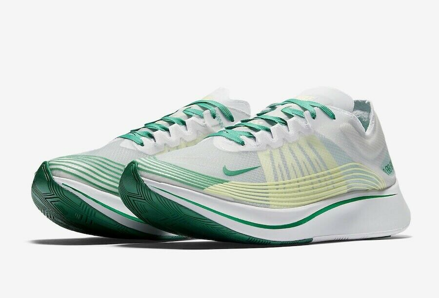 Nike Zoom Fly SP Size 9   White Lucid Green Yellow AJ9282-101 Men